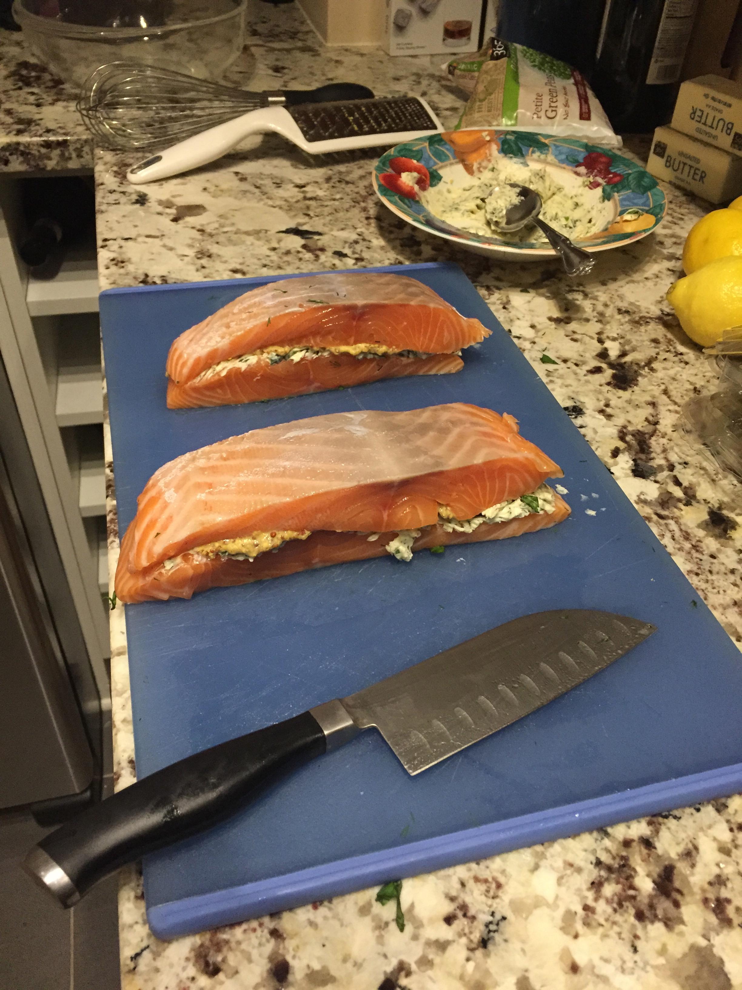 how to make salmon en croute recipe